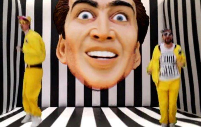 Nicolas Cage's face is coming to a bouncy castle near you…