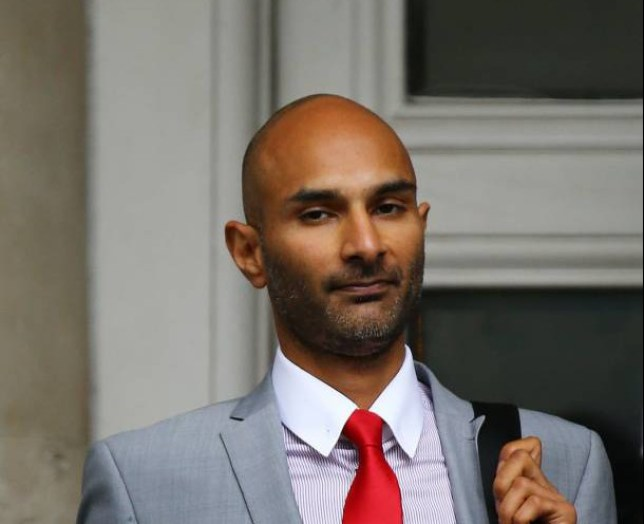 Minesh Parbat at Lewes Crown Court in East Sussex where he faces charges of death by dangerous driving. PRESS ASSOCIATION Photo. Picture date: Thursday July 16, 2015. The motorist denied taking part in a sex act with his girlfriend as he drove at up to 60mph before he crashed, causing her fatal injuries. See PA story COURTS Horny. Photo credit should read: Gareth Fuller/PA Wire