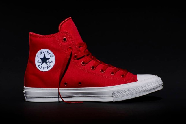 26abc42242d6 This photo provided by Converse shows the new Fall 2015 Chuck Taylor All  Star II red