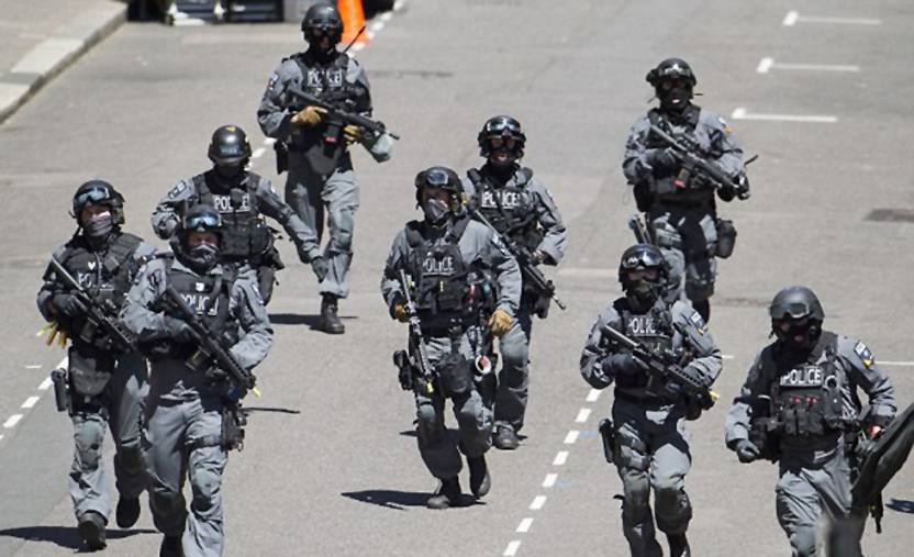 Police.jpg Exercise Strong TOwer: Armed police in London's streets last month, in training for a terror attack in the wake of Tunisia killings