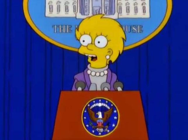 Simpsons kind of predicated Trump presidency