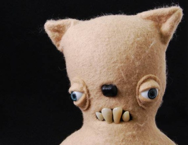 Teddy Bear with teeth - Plush Cat - Decorative Doll - Handmade and OOAK - Lucien /Made to order/ Quirky Uncanny Scary Creepy Cute  Disturbing looking, hand made stuffed creatures on ETSY Source: www.etsy.com/UncannyCreatures