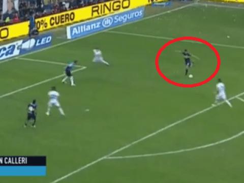 Jonathan Calleri scores epic rabona Puskas 2015 contender for Boca Juniors, Diego Maradona loves it