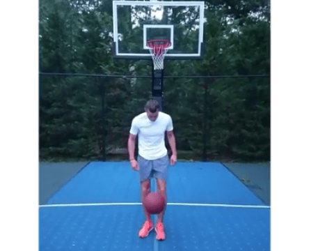 Watch Real Madrid star Gareth Bale pull off outrageous no-look basketball shot