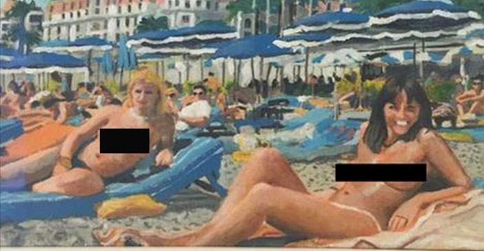 There's a French painting of a naked woman who looks EXACTLY like Davina McCall