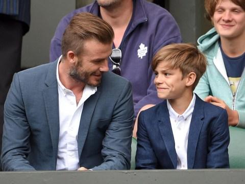 David Beckham dotes on son Romeo at Wimbledon and it's adorable