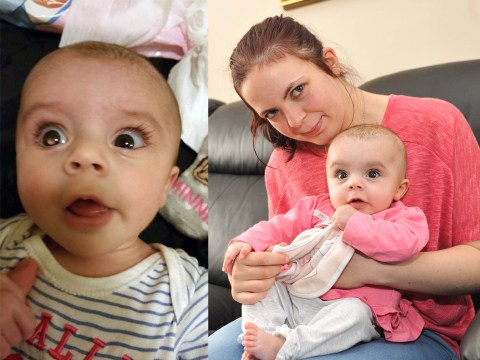 Baby diagnosed with cancer after mother posts photo of her 'reflective eye' on Facebook