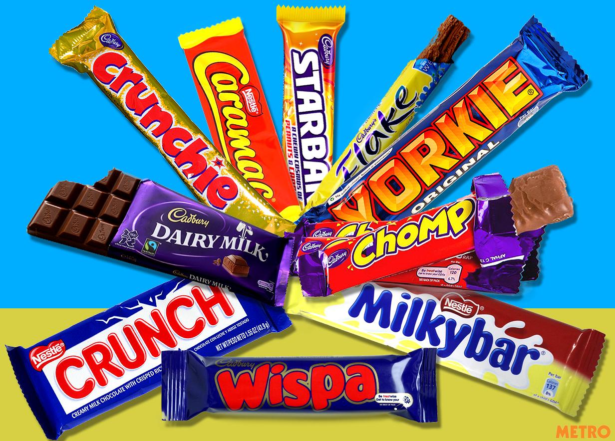 British chocolate bars ranked from worst to best