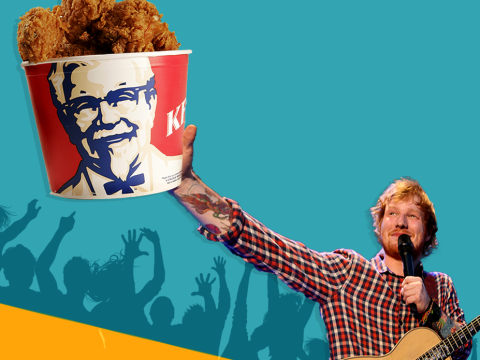 Ed Sheeran was paid in KFC to sing at Jake Roche and Jesy Nelson's engagement