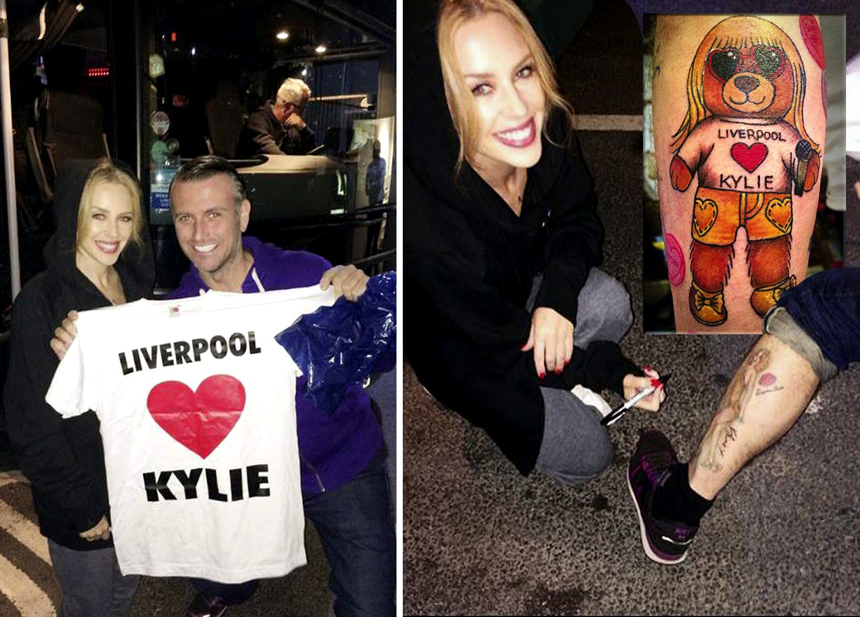This Kylie fan is so devoted to the singer he's shown his love in tattoo form…