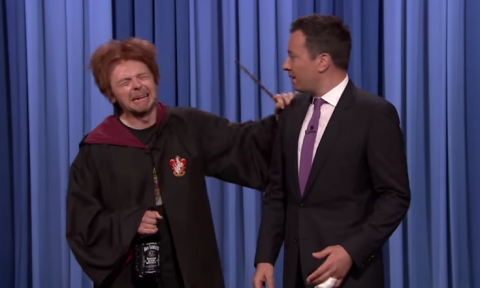 Simon Pegg as drunk Ron Weasley is the role he was born to play