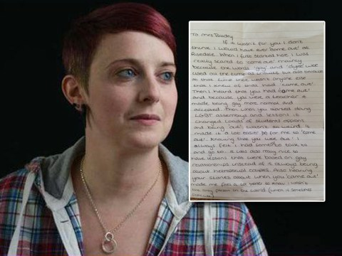 Lesbian teacher inspires a heartwarming 'coming out' letter from her student