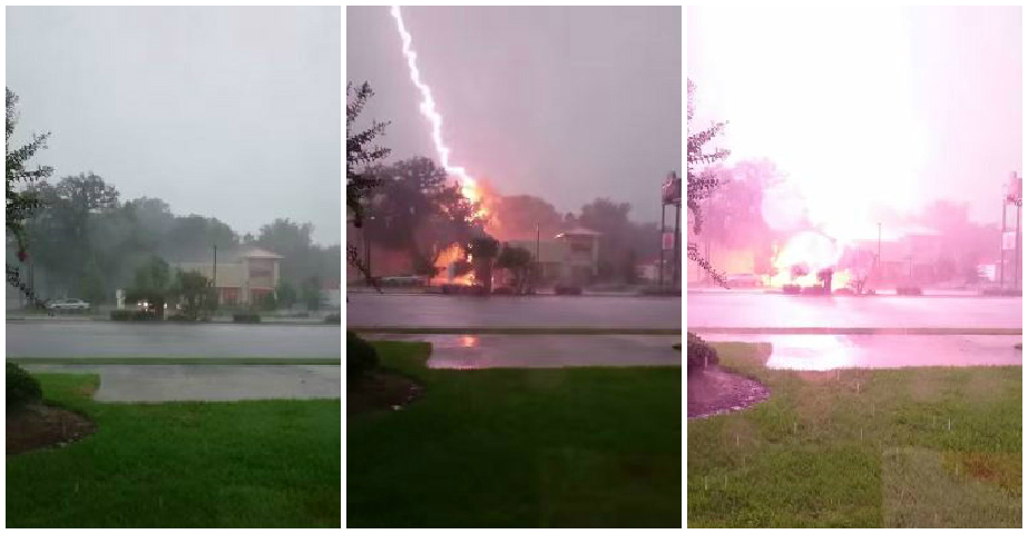 The dramatic scene in Florida (Picture: YouTube)