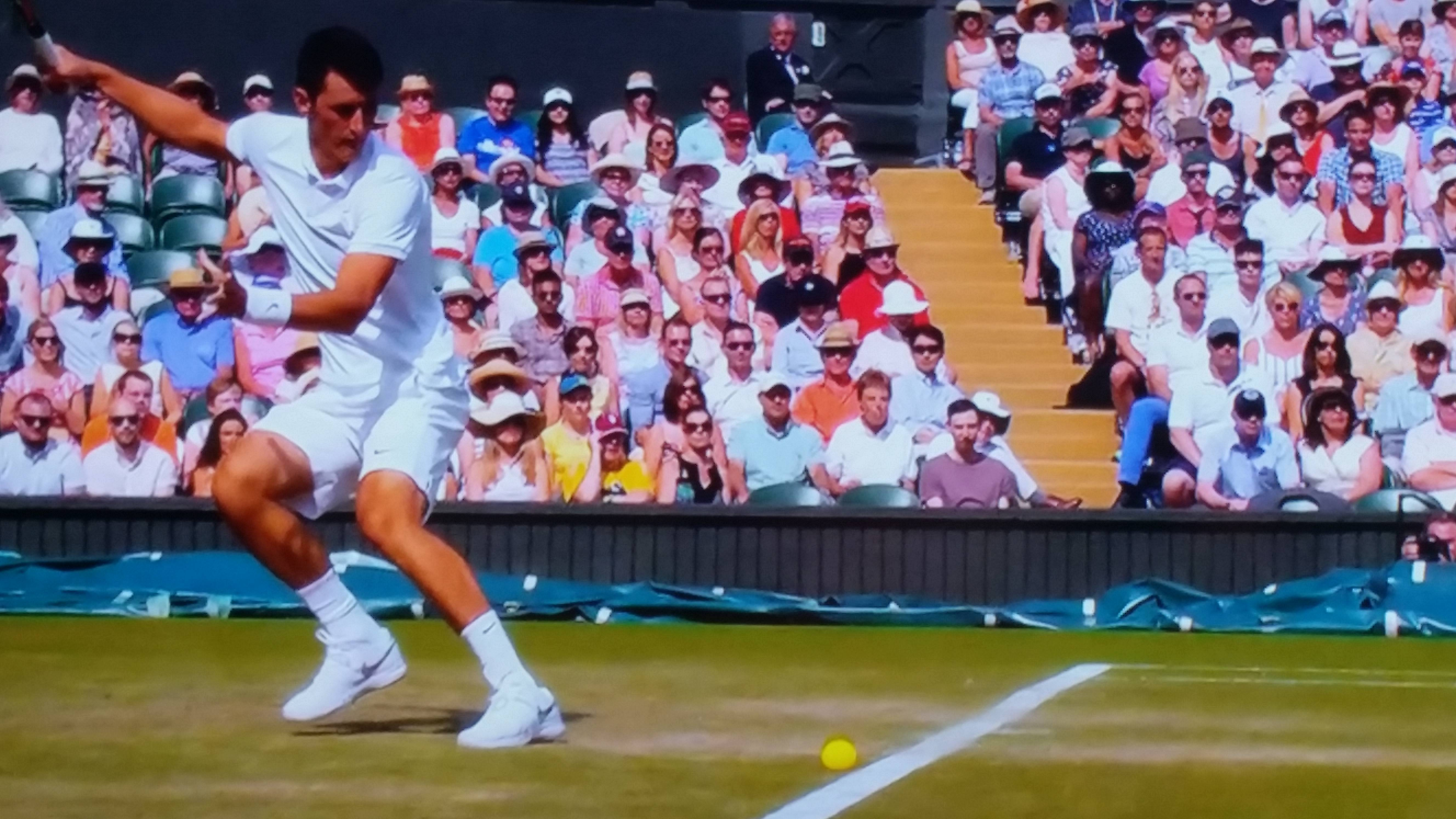 Wimbledon Hawk-Eye controversy as picture clearly shows ball was out during Novak Djokovic match
