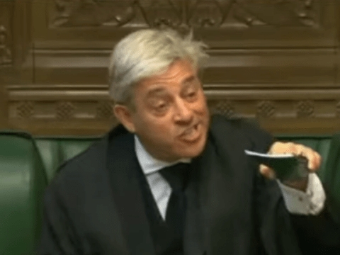 Speaker John Bercow just lost it and kicked an MP out of the Commons
