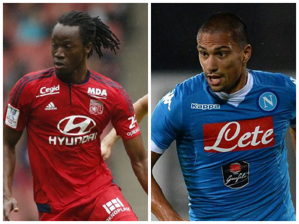 Leicester are lining up moves for Bakary Kone, left, and Gokhan Inler (Pictures: Reuters/Getty)