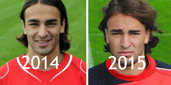 Lazar Markovic's changing profile pictures show exactly what 12 months at Liverpool can do to you