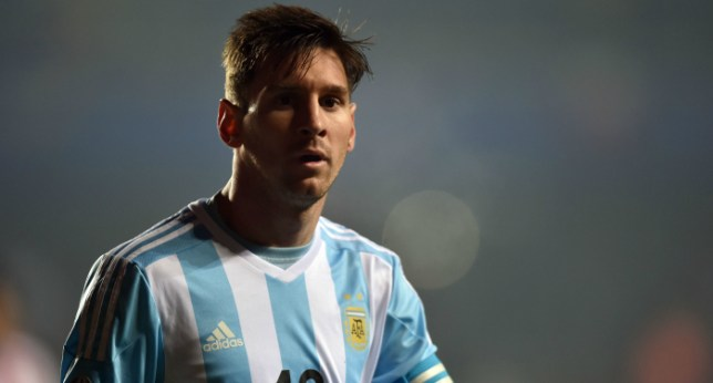Argentina's forward Lionel Messi is seen during their Copa America semifinal football match against Paraguay in Concepcion, Chile on June 30, 2015.   AFP PHOTO / YURI CORTEZYURI CORTEZ/AFP/Getty Images