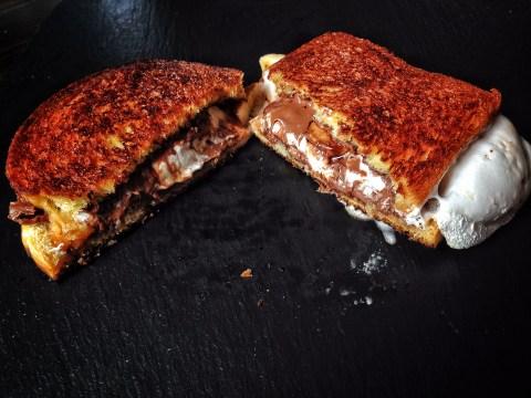 This Nutella and marshmallow brioche toastie recipe is pure filth