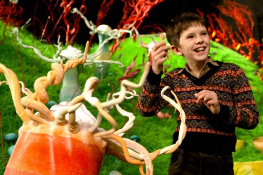 Film 'Charlie and the Chocolate Factory' (2005). Freddie Highmore. RTE One St. Stephen's Day