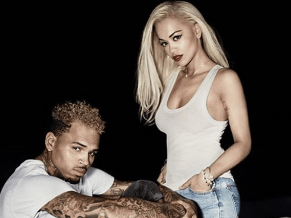 Chris Brown and Rita Ora tease their upcoming collaboration and hint at the title