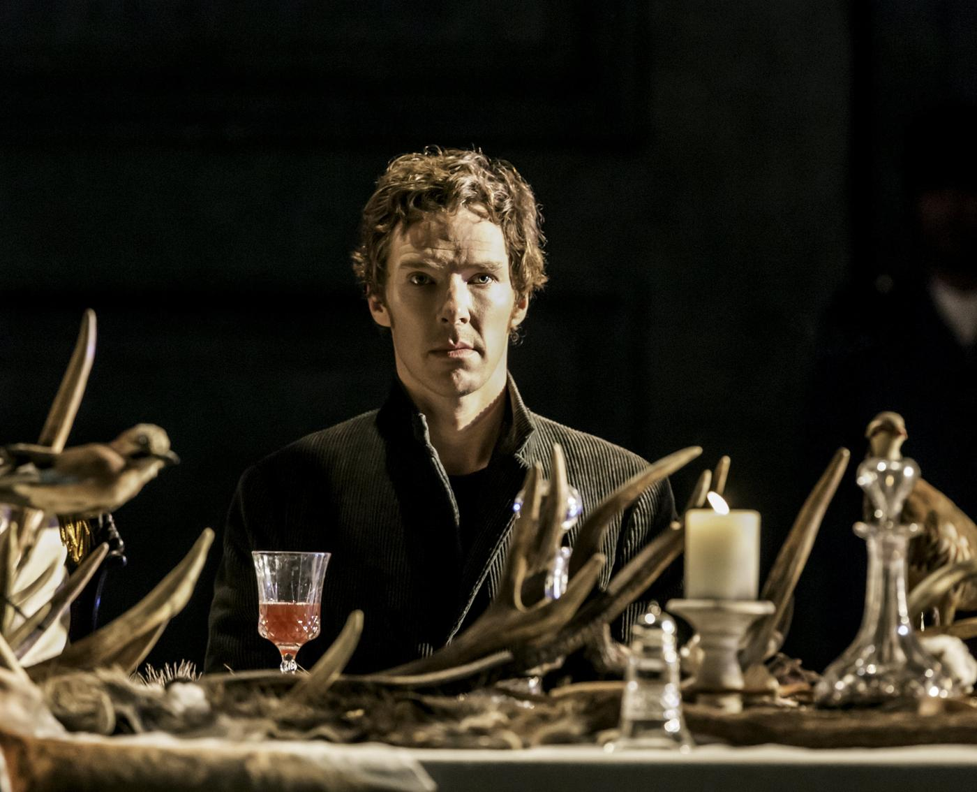 Actor Benedict Cumberbatch performs in Director Lyndsey Turner's production of Hamlet at the Barbican, in London Handout/Reuters