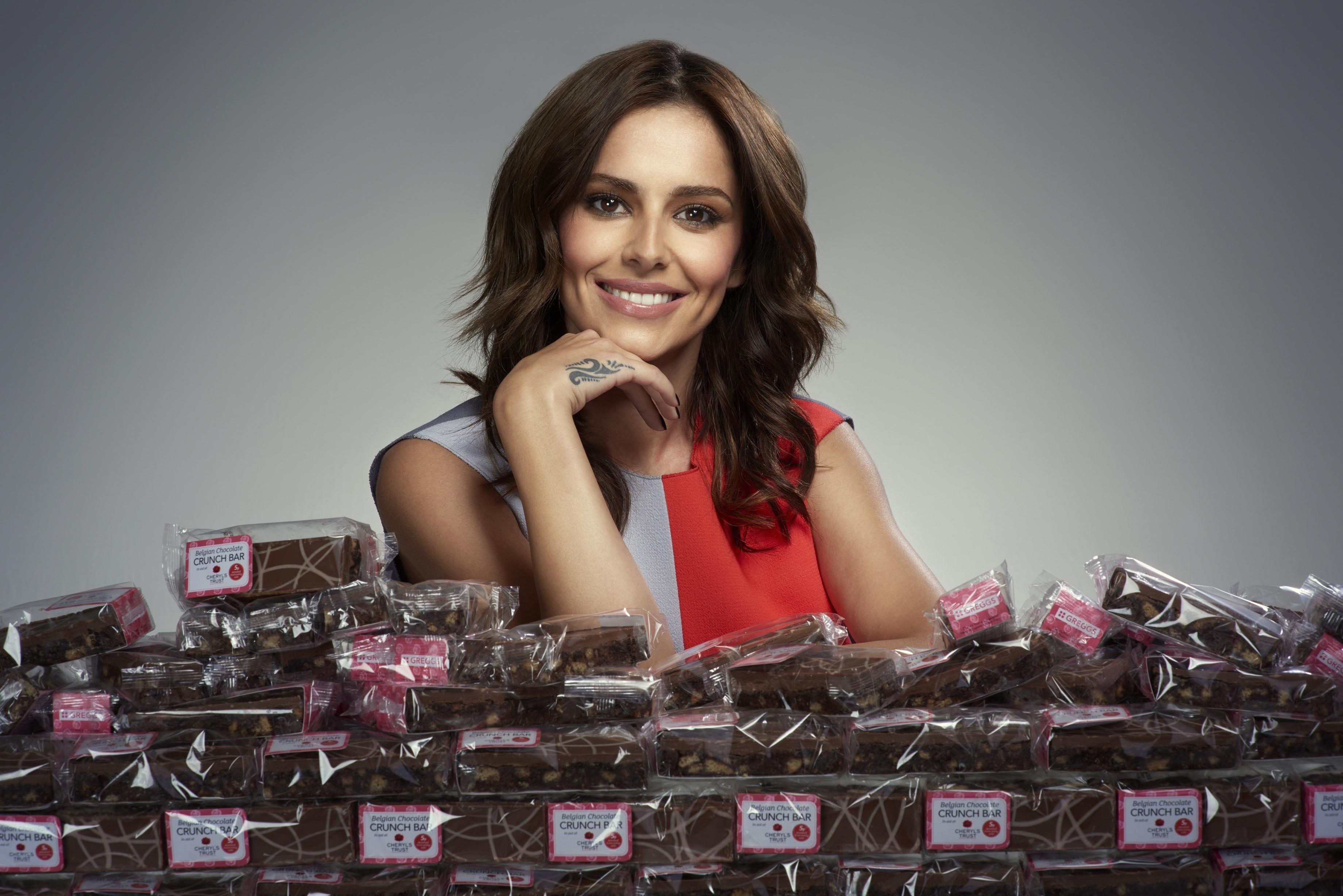 Cheryl Fernandez-Versini throws her weight behind Greggs' charity chocolate bar campaign