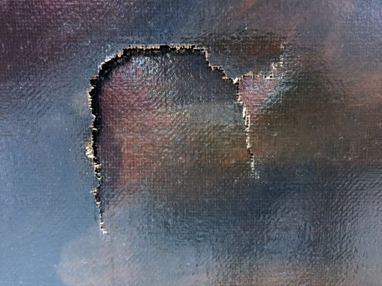 Boy trips and puts hole in million dollar painting Source: TST Art of Discovery Co