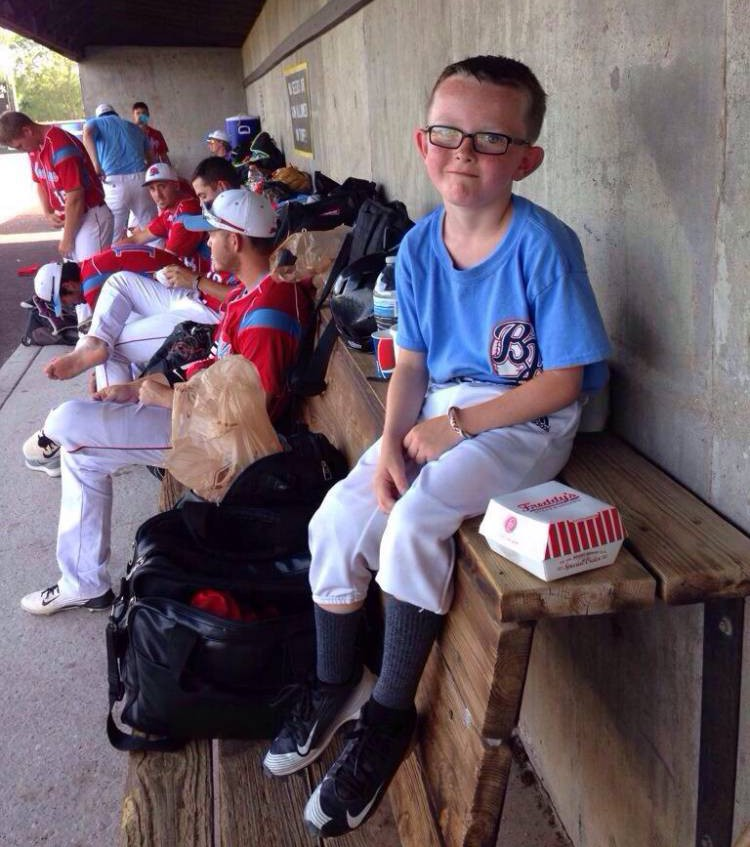 The 9-year-old bat boy for the Liberal Bee Jays is in critical condition, in ICU, at a local hospital after he was accidentally hit in the head by a bat swung by a Bee Jay's player.  Kansas