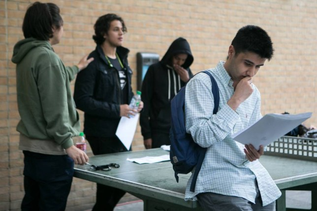 A student reads his A-level results at Westminster Kingsway College, King's Cross Centre, London. PRESS ASSOCIATION Photo. Picture date: Thursday August 13, 2015. Around 300,000 students in England, Wales and Northern Ireland are heading to their schools and colleges to receive their grades. See PA story EDUCATION Alevels. Photo credit should read: Daniel Leal-Olivas/PA Wire