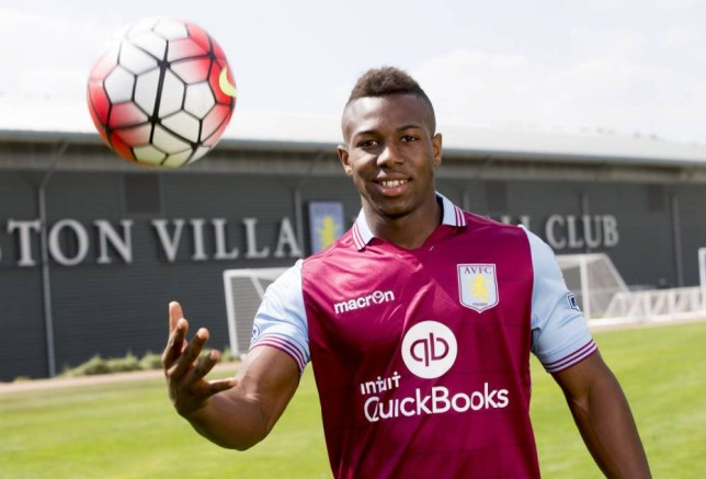 BIRMINGHAM, ENGLAND - AUGUST 12: New signing Adama Traore of Aston Villa poses for a picture at the club's training ground at Bodymoor Heath on August 12, 2015 in Birmingham, England. (Photo by Neville Williams/Aston Villa FC via Getty Images)