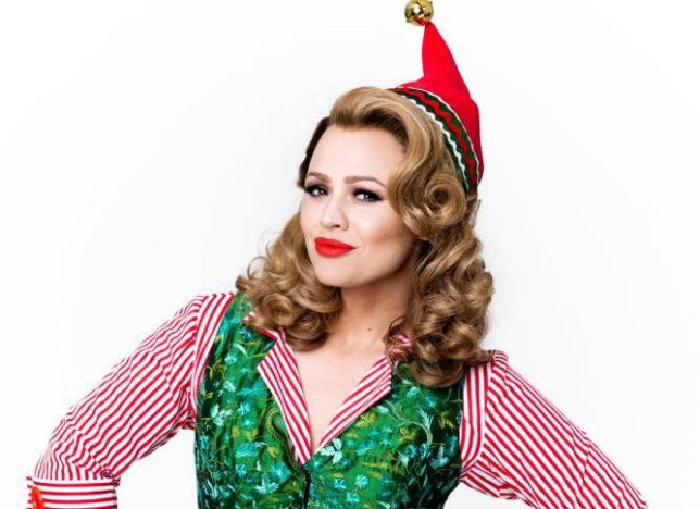 Kimberley Walsh, the former Girls..Aloud singer, gets into fairy mode.. as love interest Jovie in the..stage show Elf, which previews from..October 24 at the Dominion Theatre,