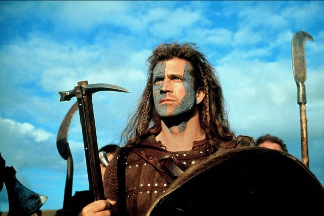 Film: 'Braveheart' (1995), starring Mel Gibson as William Wallace. Directed By MEL GIBSON 19 May 1995 CTK32094 Allstar/Cinetext/PARAMOUNT **WARNING** This photograph can only be reproduced by publications in conjunction with the promotion of the above film. For Editorial Use Only.
