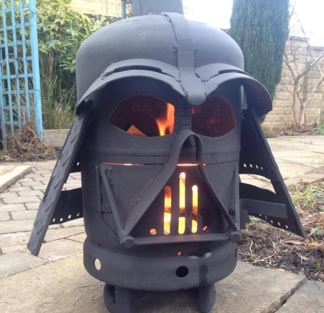 So the story is about this guy in Queensland who got a Darth Vader burner and now this video of it burning has gone viral - it's been viewed 9 million times.