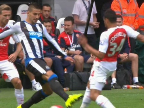 Twitter reacts as Newcastle hot-head Aleksander Mitrovic is sent off for stamp on Arsenal's Francis Coquelin