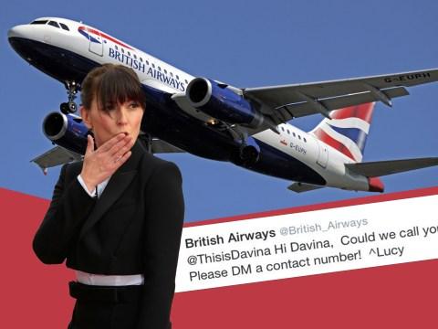 Davina gets BA call back – some bloke called Graham? Nope