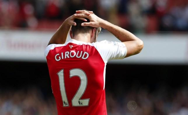 Arsenal's Olivier Giroud looks dejected Eddie Keogh/Reuters