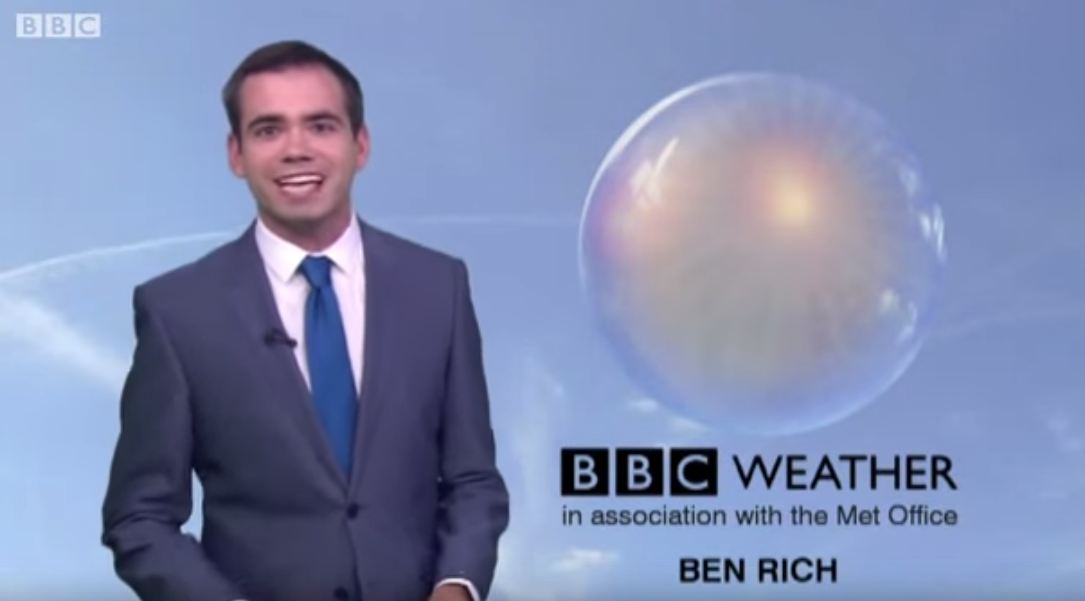 The Met Office will no longer be providing weather forecasts for the BBC (Picture: YouTube)