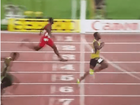Watch Usain Bolt jog to victory in 200m at World Championships and beat Justin Gatlin again