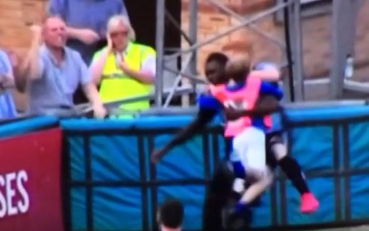 Wycombe Wanderers ball boy couldn't contain excitement when his team scored a last minute equaliser