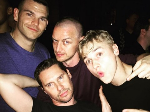 James McAvoy gets his party on with Ben Hardy as X-Men: Apocalypse wraps filming