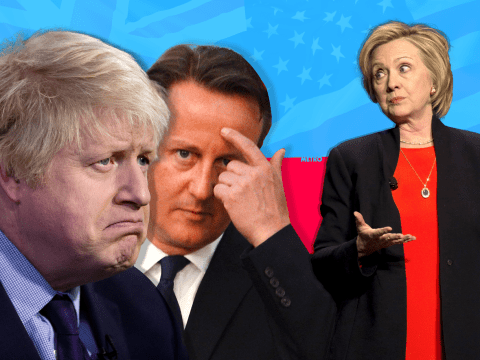 Hillary Clinton has made it very clear she doesn't like David Cameron or Boris Johnson much