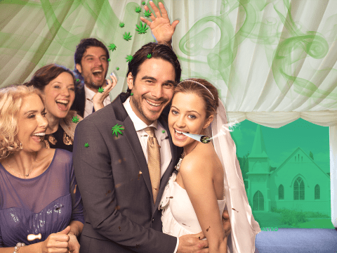 This couple had a weed tent at their wedding and it was smokin'