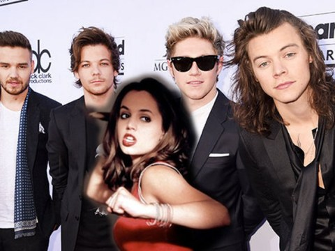 Buffy star Eliza Dushku was kicked out of her hotel room so One Direction could have the whole floor