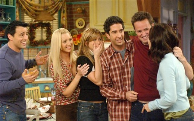friends tv show hugging