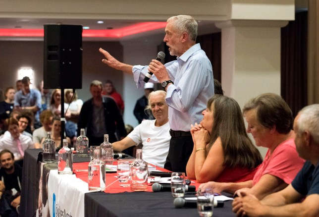 CARDIFF, WALES - AUGUST 11: Labour leadership candidate Jeremy Corbyn attends a rally at the Mercure Holland house hotel on August 11, 2015 in Cardiff, Wales. Earlier he addressed supporters at a gathering at the memorial stones to Welsh Labour hero and NHS creator Aneurin Bevan in Tredegar, Wales. (Photo by Matthew Horwood/Getty Images)