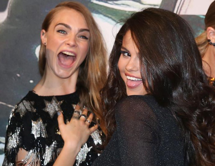 Selena Gomez loves that every one thought she was hooking up with Cara Delevingne