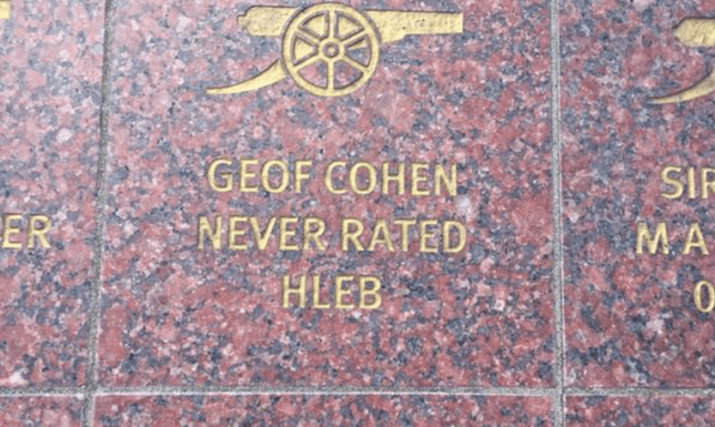 Geof clearly was not a fan of Hleb... (Picture: Talkingbaws.com)