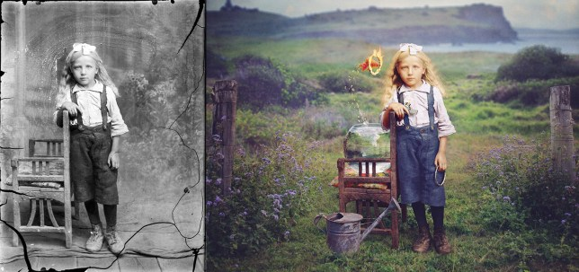 artist recolours old photographs to bring them back to life