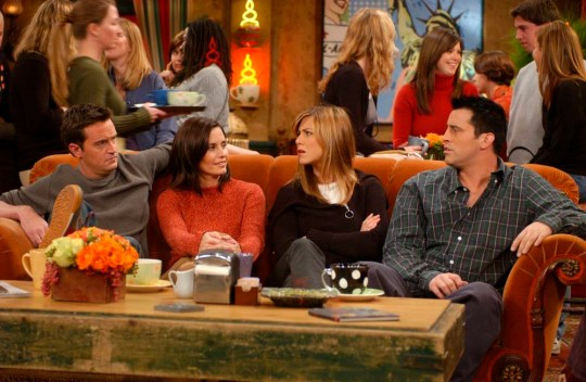 Where was Friends filmed and which scenes were filmed in New